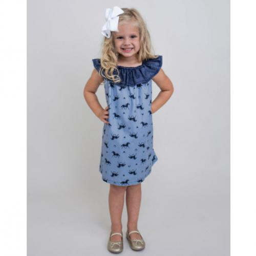 Giddy Up Frill Yoke Dress  Giddy Up Frill Yoke Dress  Apparel & Accessories > Clothing > Baby & Toddler Clothing > Baby & Toddler Dresses