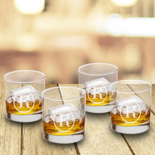 Personalized Lowball Glass Set  Home & Garden > Kitchen & Dining > Tableware > Drinkware > Lowball Glasses