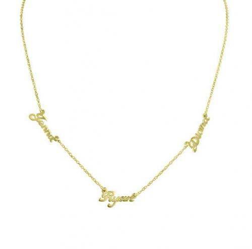 Multi Name Necklace in 10 Karat Solid Gold  Apparel & Accessories > Jewelry > Necklaces