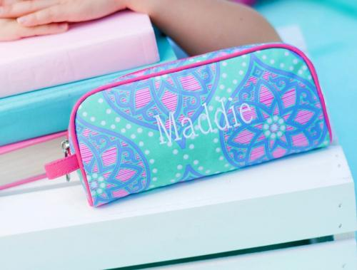 Personalized Marlee Mandala Print Pencil and Travel Pouch  Office Supplies > Filing & Organization > Pen & Pencil Cases