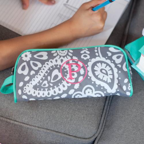 Personalized Parker Paisley Pencil and Travel Pouch  Office Supplies > Filing & Organization > Pen & Pencil Cases