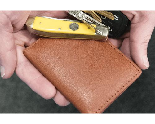 Personalized Vanderbilt Italian Leather Clip Wallet  Apparel & Accessories > Clothing Accessories > Wallets & Money Clips