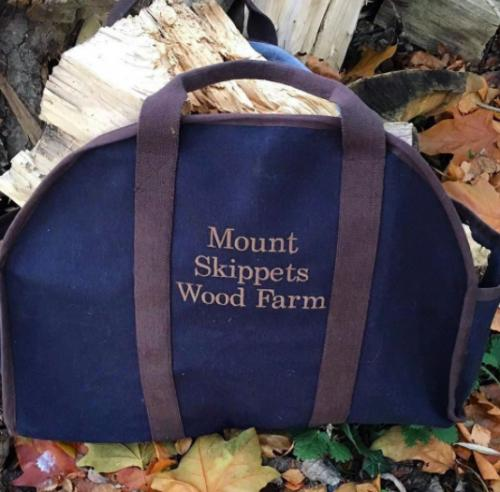 Monogrammed Navy Log Carrier   Home & Garden > Lawn & Garden