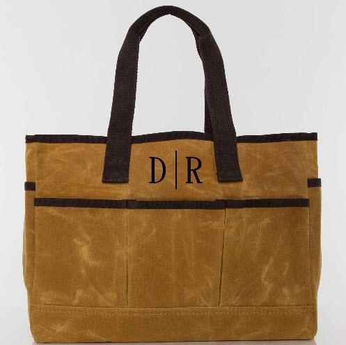 Monogrammed Yellow Canvas Utility Tote   Apparel & Accessories > Handbags > Tote Handbags