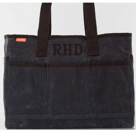 Monogrammed Slate Canvas Utility Tote   Apparel & Accessories > Handbags > Tote Handbags