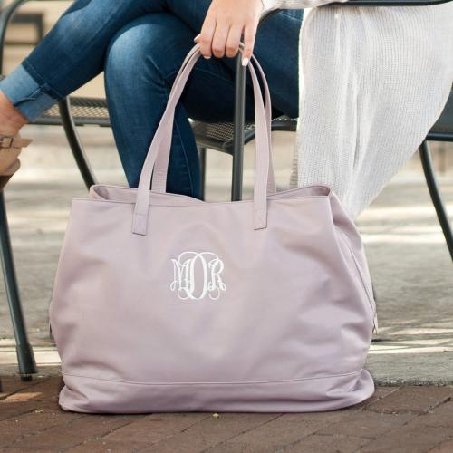Personalized Blush Vegan Leather Cambridge Travel Bag  Apparel & Accessories > Handbags > Tote Handbags