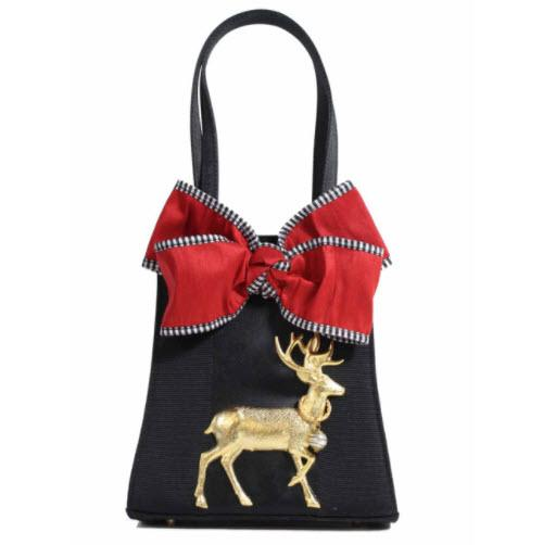 Eve Trap Bag Red Bow XL Deer Eve Trap Bag Red Bow XL Deer Apparel & Accessories > Handbags > Clutches & Special Occasion Bags