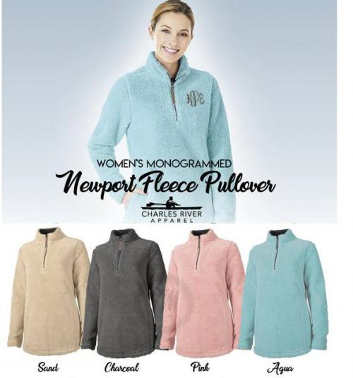 Monogrammed Newport Fleece In Stock Now  Apparel & Accessories > Clothing > Outerwear > Coats & Jackets > Fleece Jackets