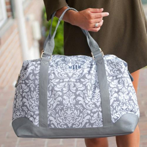 Personalized Ella Grey Weekender Bag  Luggage & Bags > Suitcases > Carry-On Luggage
