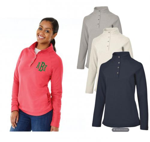 Monogrammed Ladies Falmouth Pullover  Apparel & Accessories > Clothing > Activewear > Active Shirts