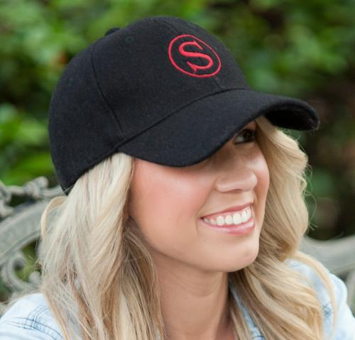 Monogrammed Black Wool Cap  Apparel & Accessories > Clothing Accessories > Hats > Caps