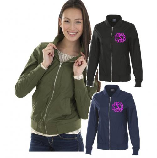 Charles River Boston Flight Jacket Monogrammed  Apparel & Accessories > Clothing > Outerwear > Coats & Jackets
