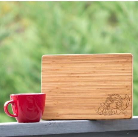 Cornucopia Wood Fall Cutting Board  Home & Garden > Kitchen & Dining > Kitchen Tools & Utensils > Cutting Boards