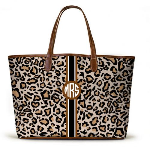 St. Anne Tote Modern Leopard Black-white-coffee bean stripe St. Anne Tote Modern Leopard Black-white-coffebean stripe NULL