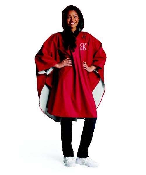 Monogrammed Charles River Pacific Poncho   Apparel & Accessories > Clothing > Outerwear > Coats & Jackets > Capes & Ponchos