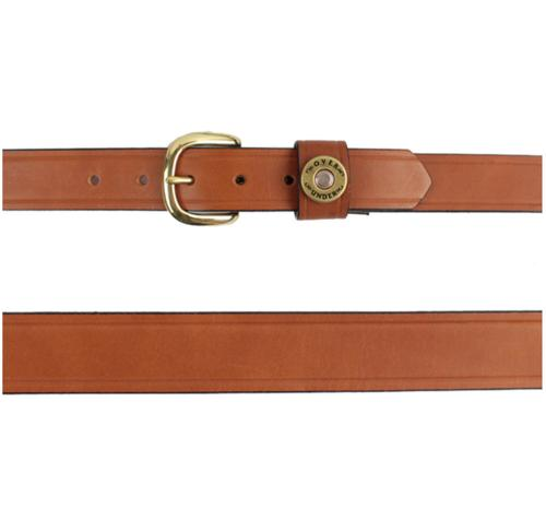 Men's Personalized Single Shot London Tan Leather Belt  Apparel & Accessories > Clothing Accessories > Belts