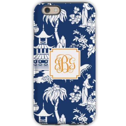 Personalized iPhone Case Pagoda Navy  Electronics > Communications > Telephony > Mobile Phone Accessories > Mobile Phone Cases