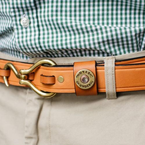 Personalized Men's Hoof Pick London Tan Leather Belt  Apparel & Accessories > Clothing Accessories > Belts