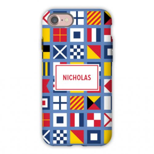 Personalized iPhone Case Nautical Flags   Electronics > Communications > Telephony > Mobile Phone Accessories > Mobile Phone Cases