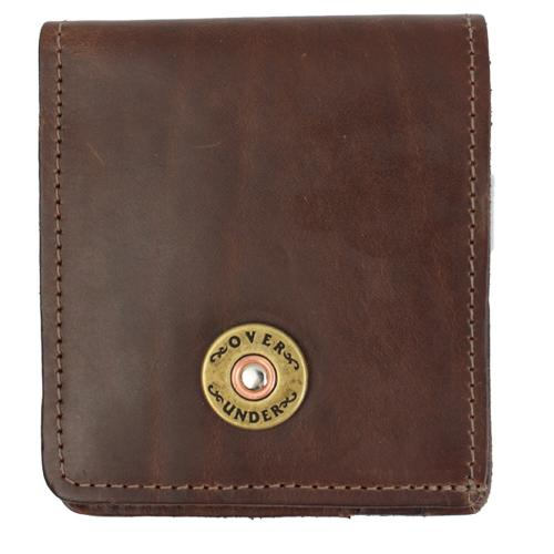 Monogrammed Horween Leather Bi-Fold Sportsmans Wallet  Apparel & Accessories > Clothing Accessories > Wallets & Money Clips