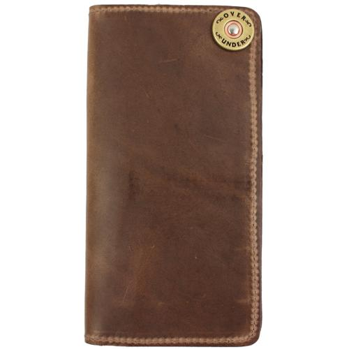 Monogrammed Horween Leather Checkbook Wallet  Apparel & Accessories > Clothing Accessories > Wallets & Money Clips