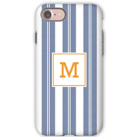 Personalized iPhone Case Vineyard Stripe Navy  Electronics > Communications > Telephony > Mobile Phone Accessories > Mobile Phone Cases
