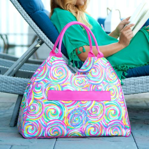 Personalized Summer Sorbet Beach Bag  Apparel & Accessories > Handbags > Tote Handbags