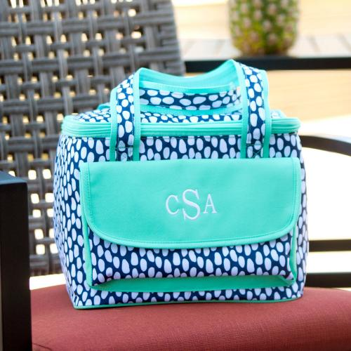 Monogrammed Tide Pool Cooler Bag  Home & Garden > Kitchen & Dining > Food & Beverage Carriers > Coolers