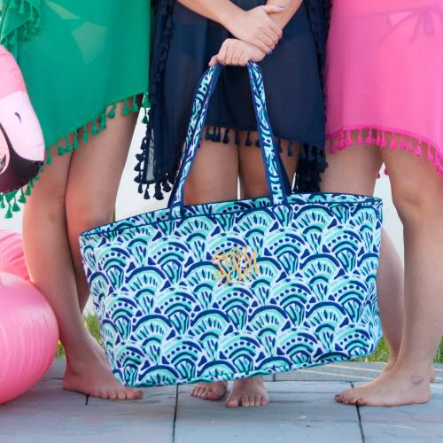 Monogrammed Make Waves Ultimate Tote  Home & Garden > Household Supplies > Storage & Organization > Utility Baskets