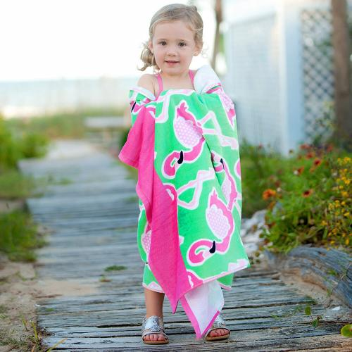 Personalized Flamingle Beach Towel  Home & Garden > Linens & Bedding > Towels > Beach Towels