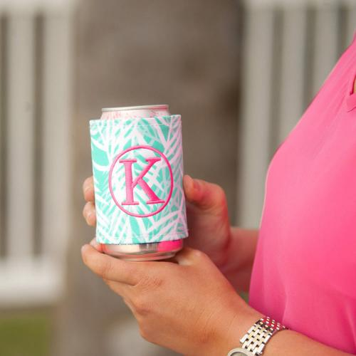 Monogrammed Poolside Palm Drink Wrap  Home & Garden > Kitchen & Dining > Food & Beverage Carriers > Drink Sleeves