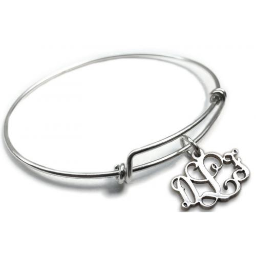 Monogram Pure Energy Charms & Bangles  Carved Solutions Charms & Bangles Monogram  Apparel & Accessories > Jewelry > Bracelets