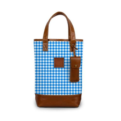 Monogrammed Westport Wine Tote Spring Leather Patch  Home & Garden > Kitchen & Dining > Food & Beverage Carriers > Wine Carrier Bags