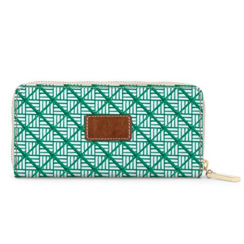 Monogrammed Crosby Zipper Wallet Spring Leather Patch  Apparel & Accessories > Handbags, Wallets & Cases