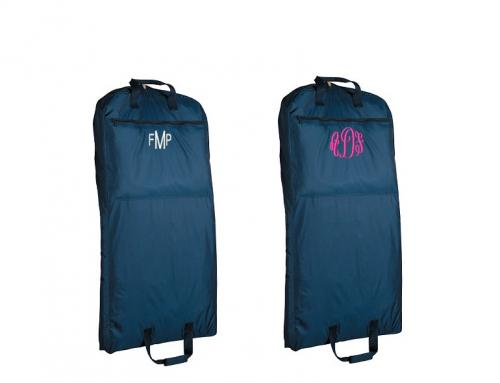 Monogrammed Garment Bag in Navy or Black  Luggage & Bags > Business Bags > Garment Bags