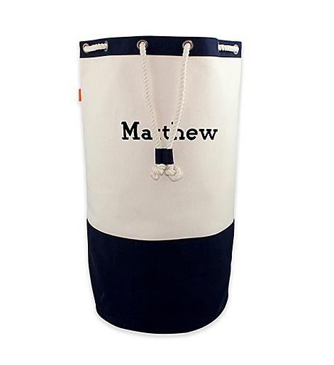 Personalized Laundry Duffel in Navy  Home & Garden > Household Supplies > Laundry Supplies > Laundry Baskets