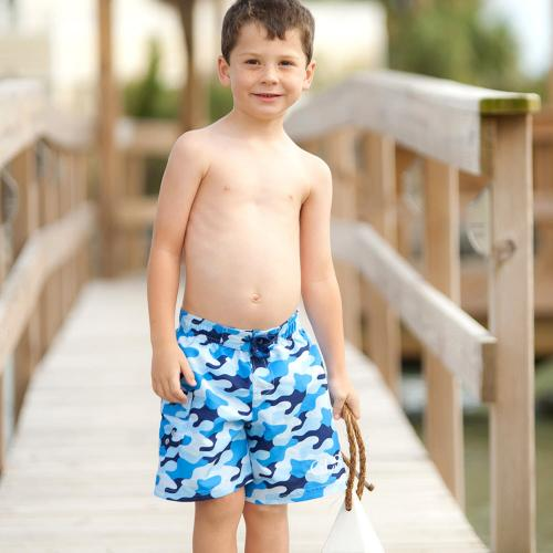 Personalized Boys Cool Camo Swim Trunks  Apparel & Accessories > Clothing > Swimwear