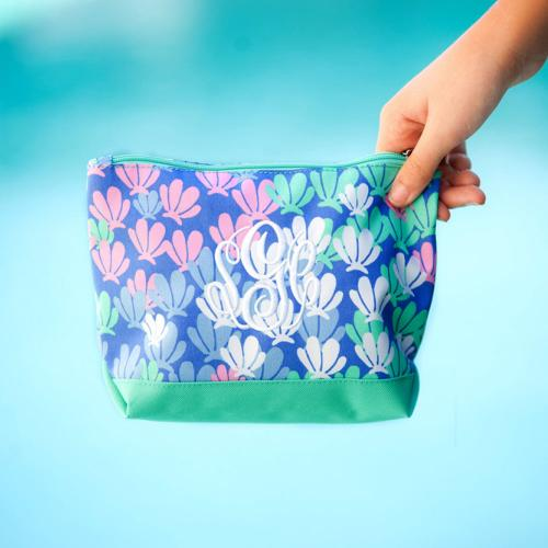 Monogrammed Mer-Mazing Cosmetic Bag  Luggage & Bags > Toiletry Bags