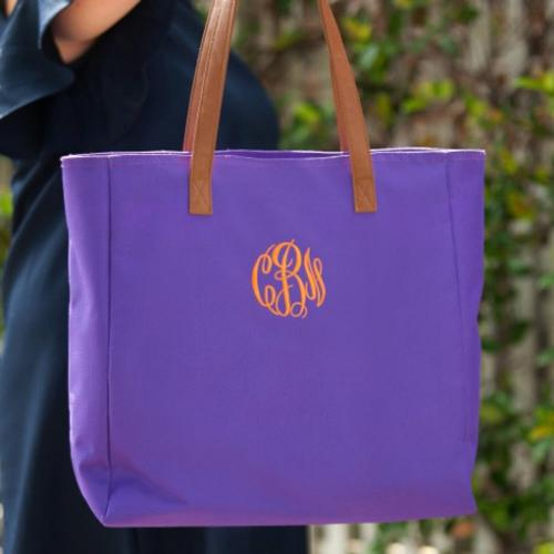 Personalized Purple Everything Tote  Apparel & Accessories > Handbags > Tote Handbags