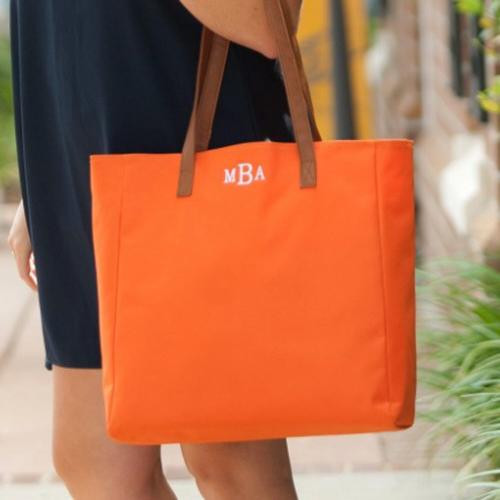 Personalized Orange Everything Tote  Apparel & Accessories > Handbags > Tote Handbags