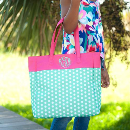 Personalized Hadley Bloom Everything Tote  Apparel & Accessories > Handbags > Tote Handbags
