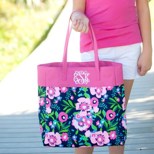 Personalized Pretty Posie Everything Tote  Apparel & Accessories > Handbags > Tote Handbags